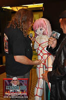 Wildman Vince and bondage blow-up doll