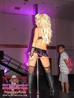 eXXXotica Hottie pole dancing in the VIP lounge