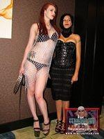 Two sexy models at the Fetish Ball