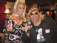 Delishass and Screamin' Sam at the Sex Drive Energy Drink Booth