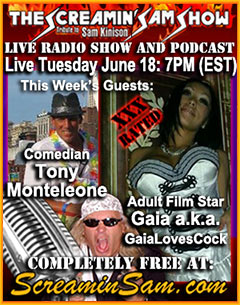 June 18th 2013 guests Tony Monteleone and Gaia Loves Cock