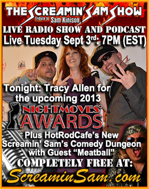 Live Radio Show for 2013 NightMoves Awards with Tracy Allen